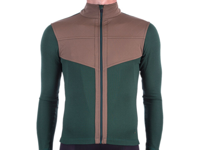 Isadore Long Sleeve Shield Jersey Men sycamore green/brown